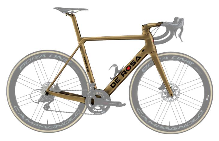 Cicli Corsa De Rosa Protos Oro frame
