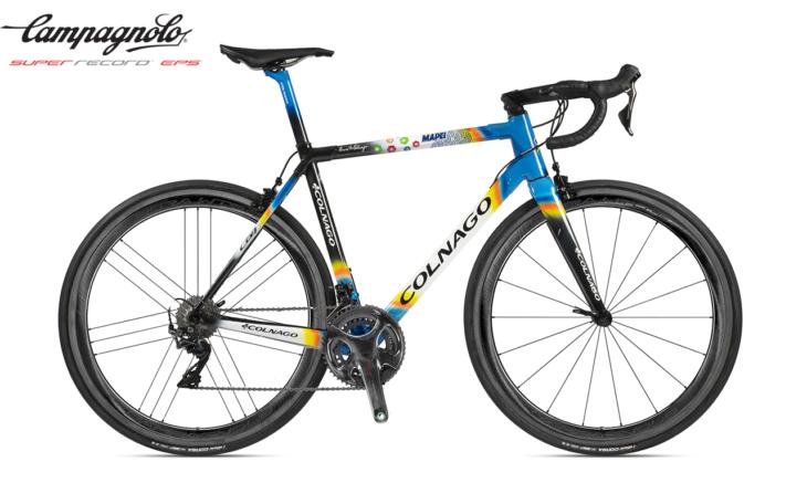 Cicli Corsa Colnago C64-Mapei campagnolo super record EPS WTO 45 rim copia