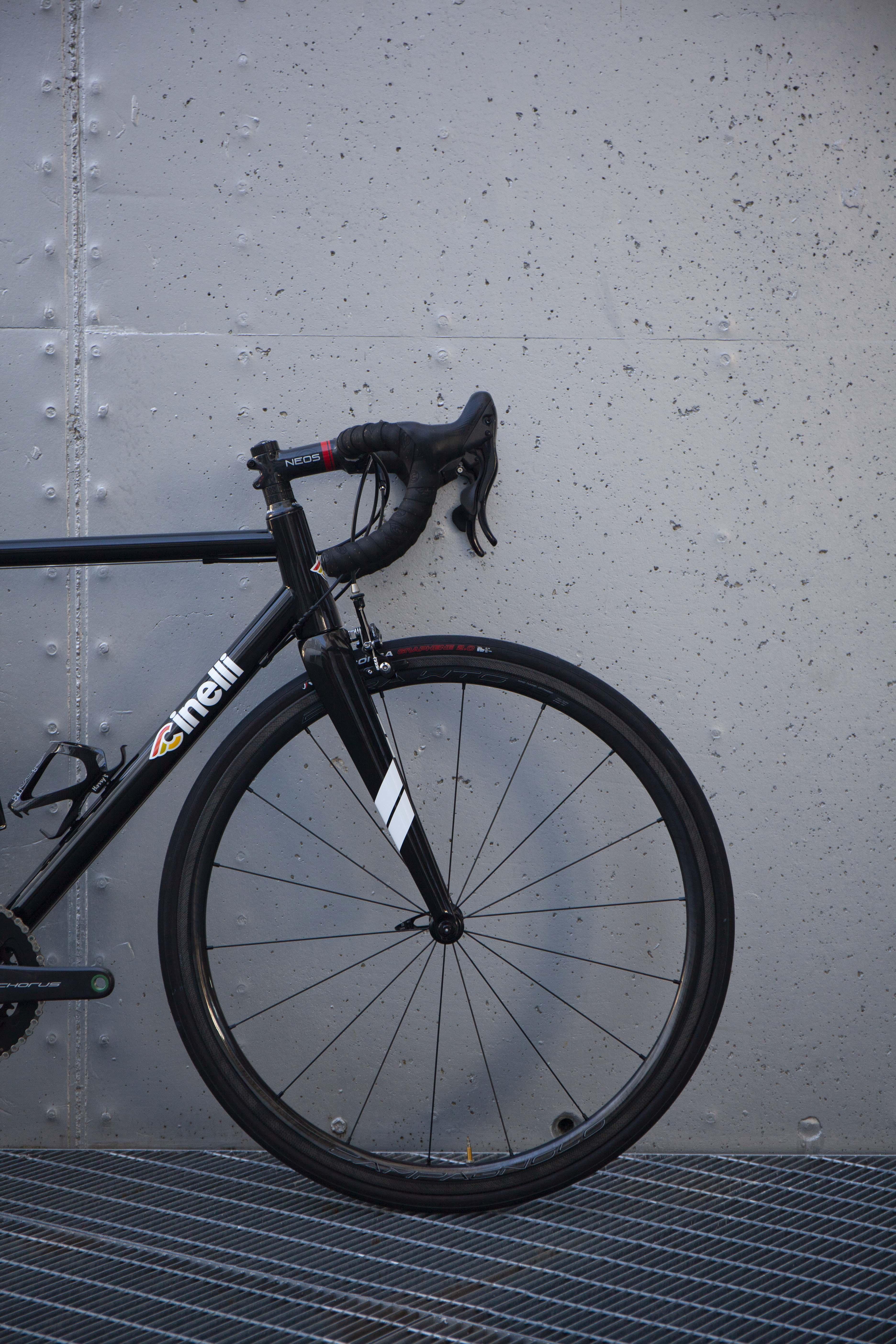 Cicli Corsa Cinelli Nemo Rim Black Campagnolo Chorus WTO33_3
