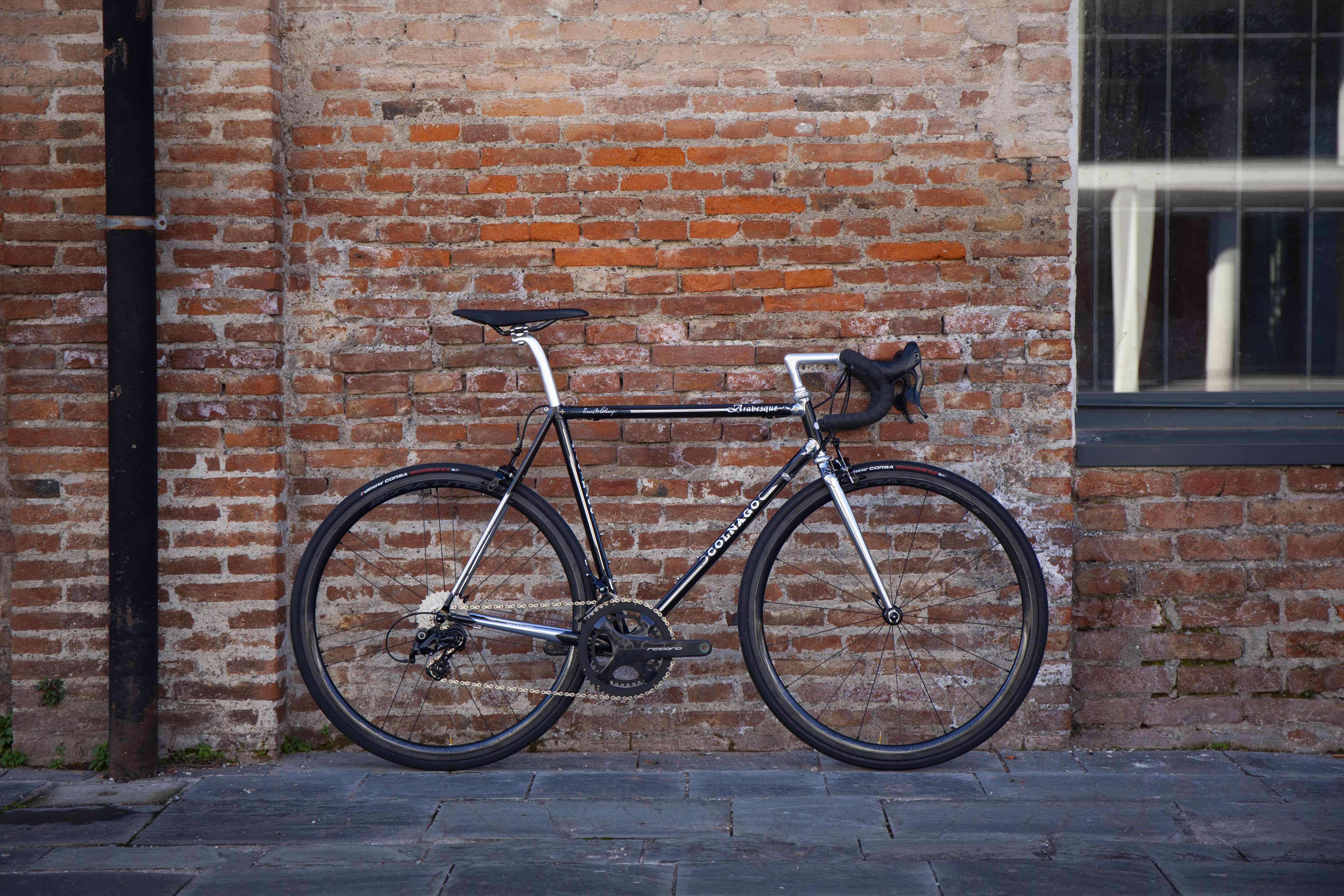 Cicli Corsa Colnago arabesque 56 Campagnolo Record Bora WTO33